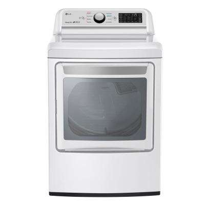 7.3 cu. ft. Ultra Large Smart Front Load Gas Vented Dryer with EasyLoad Door and Sensor Dry in White, ENERGY STAR