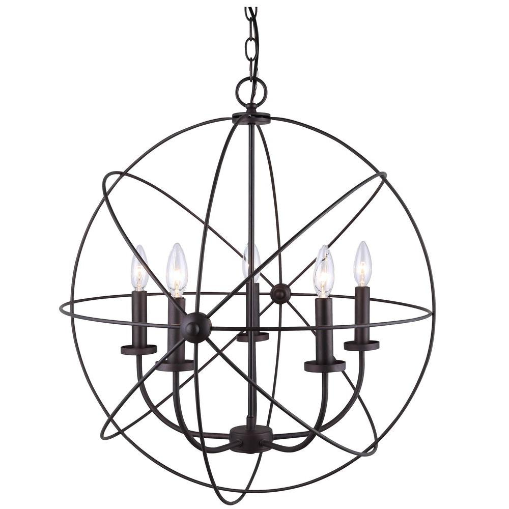 CANARM Summerside 5-Light Oil Rubbed Bronze Chandelier