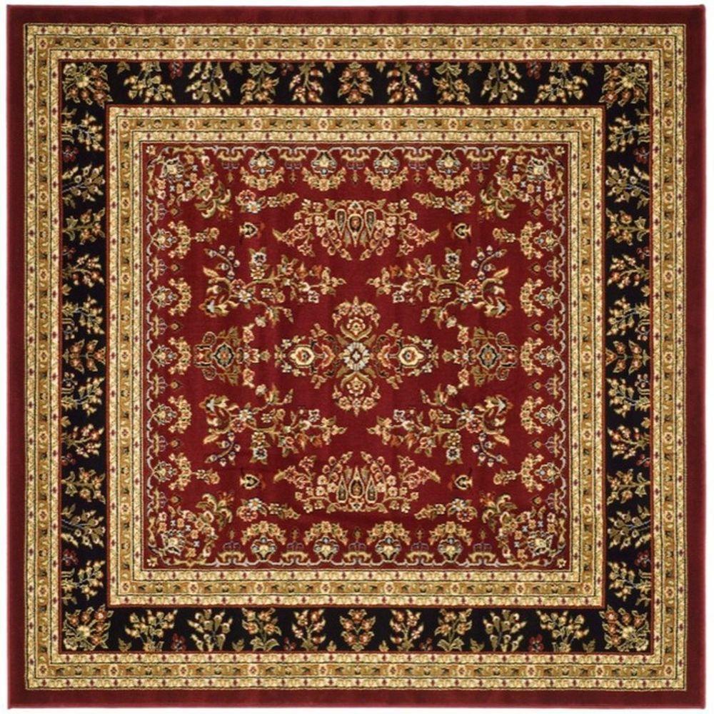 Safavieh Lyndhurst Red Black 8 Ft X 8 Ft Square Area Rug Lnh331b