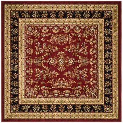 Lyndhurst Red Black 8 Ft X Square Area Rug