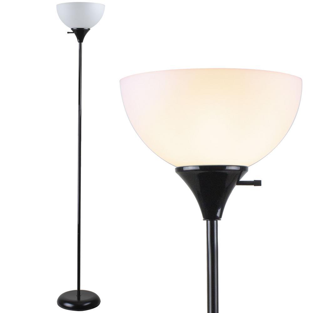 71 In Black Basic Torchiere Floor Lamp