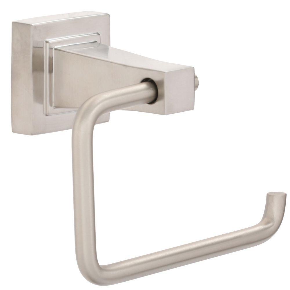 Glacier Bay Adelyn Single Post Toilet Paper Holder in Brushed Nickel by Glacier Bay