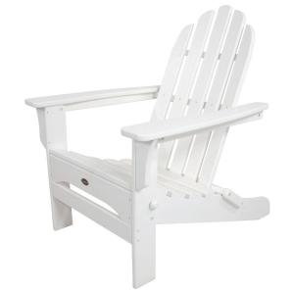 Trex Outdoor Furniture Cape Cod Classic White Folding