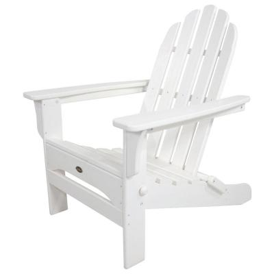 Cape Cod Classic White Folding Plastic Adirondack Chair