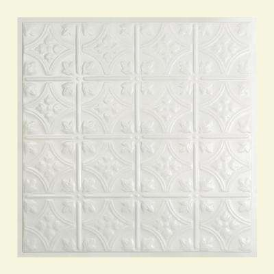 Hamilton 2 ft. x 2 ft. Lay-in Tin Ceiling Tile in Matte White