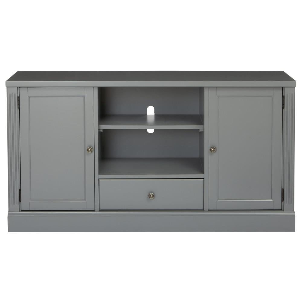 home decorators collection edinburgh grey tv stand 6335