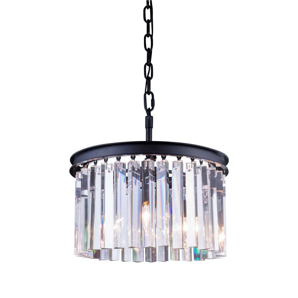 Elegant lighting sydney 3 light mocha brown chandelier with clear elegant lighting sydney 3 light mocha brown chandelier with clear crystal aloadofball Image collections