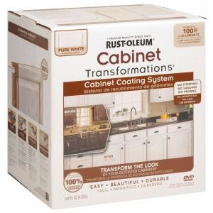 Rust Oleum Transformations 1 Qt. Pure White Cabinet Small Kit 298060   The  Home Depot
