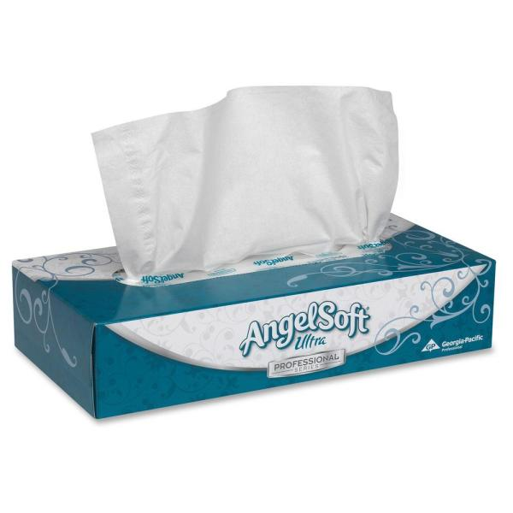 Angel Soft Ultra Professional Series, GPC48560, Premium Facial Tissue in Flat Box, 30 / Carton, White