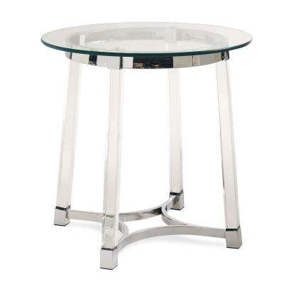 Sophia Clear Modern End Table