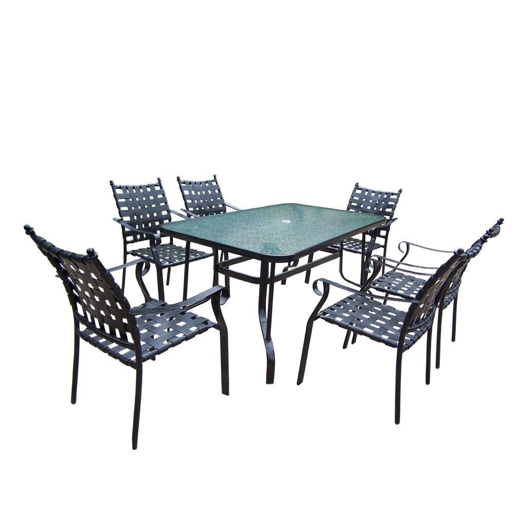 Web 7 Piece Metal Outdoor Dining Set