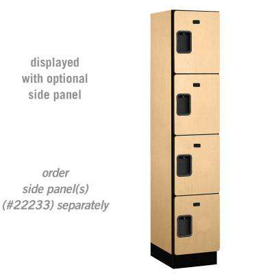 24000 Series 4-Tier 18 in. D Extra Wide Designer Particle Board Locker in Maple