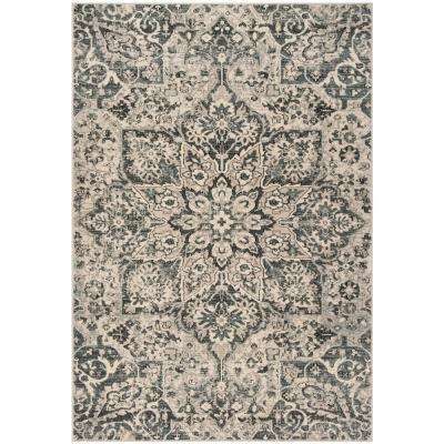 Carmel Ivory/Gray 4 ft. x 6 ft. Area Rug