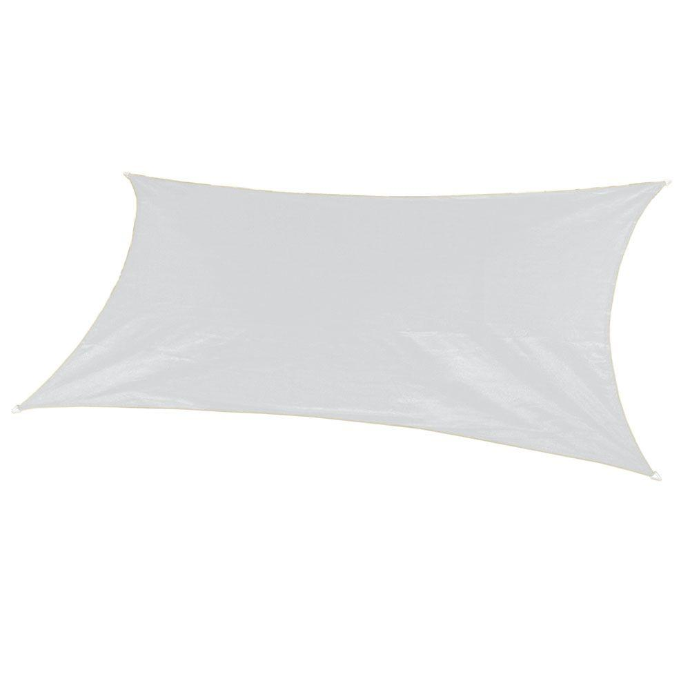 18 ft. x 10 ft. Ivory Rectangle Ultra Shade Sail with