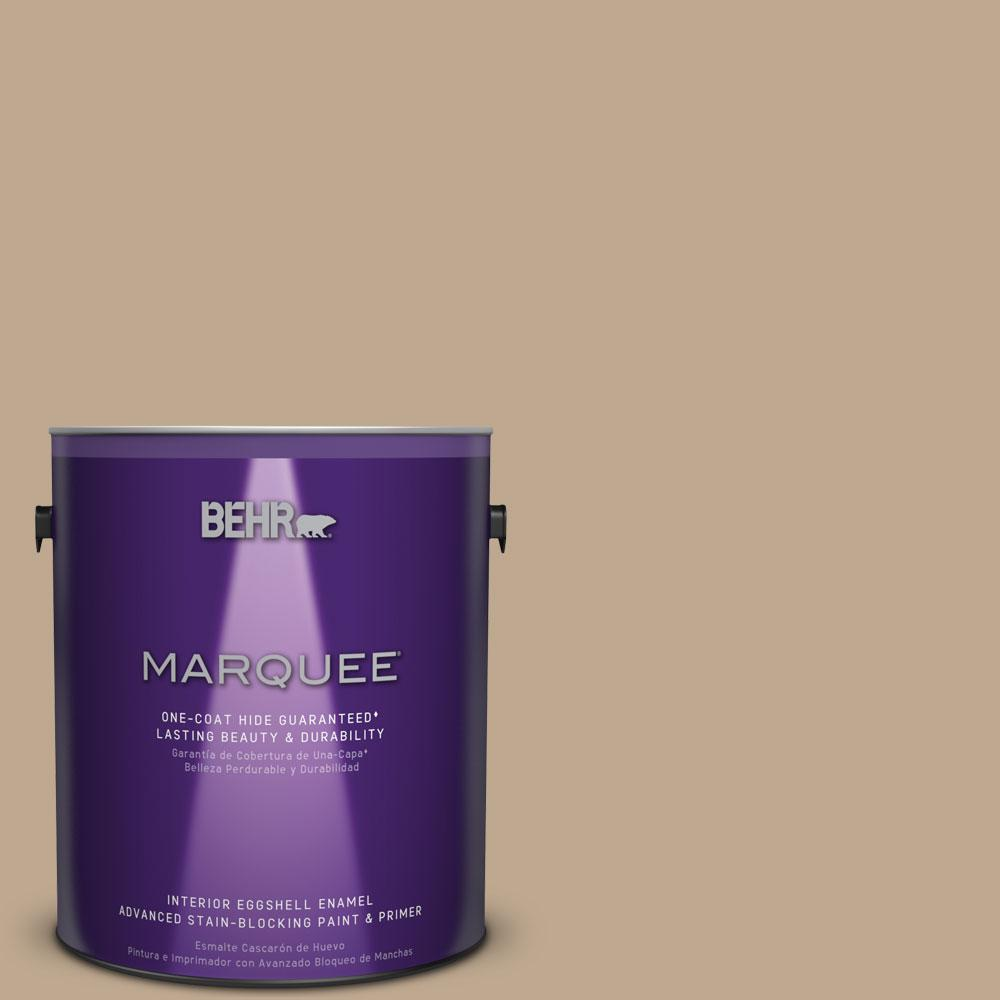 1 gal. #MQ2-25 British Khaki Eggshell Enamel One-Coat Hide Interior Paint