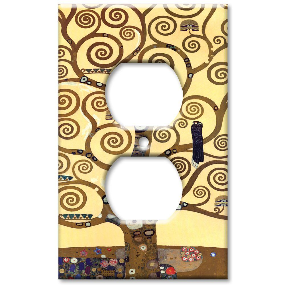 Art Plates Klimt The Tree of Life - Oversize Outlet Cover