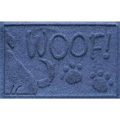 Navy 18 in. x 28 in. Wag the Dog Polypropylene Pet Mat