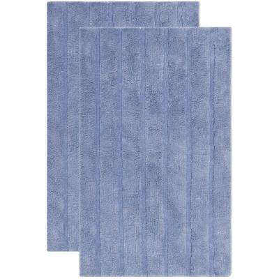Plush Master Bath Light Purple 1 ft. 9 in. x 2 ft. 10 in. 2-Piece Rug Set