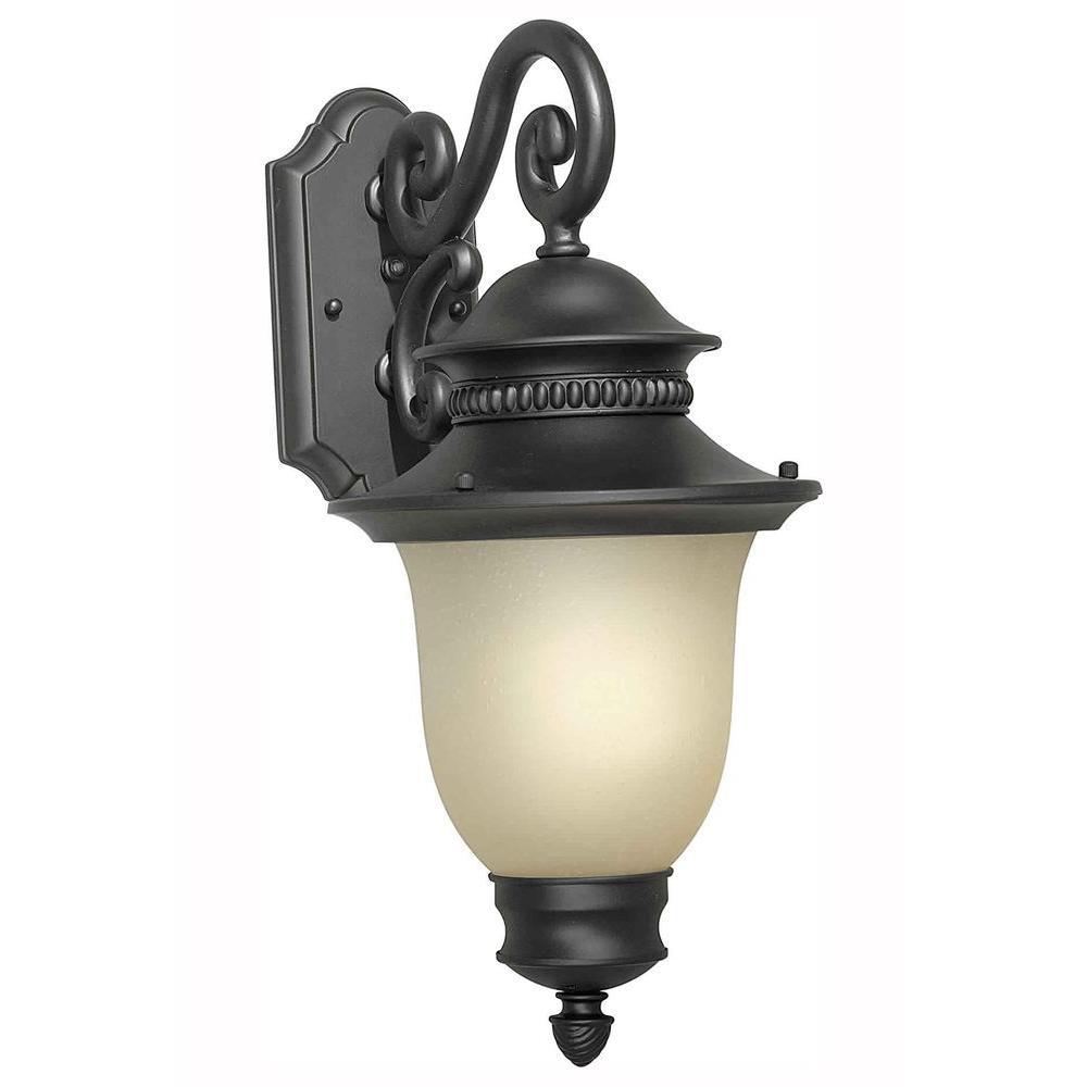 Illumine Burton 1 Light Black Outdoor Halogen Wall Mount Light-DISCONTINUED