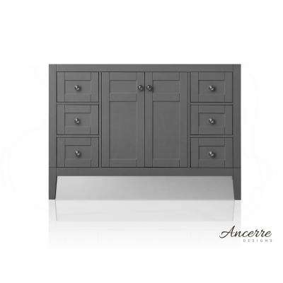 Maili 47 in. W x 21 in. D Vanity Cabinet Only in Sapphire Gray