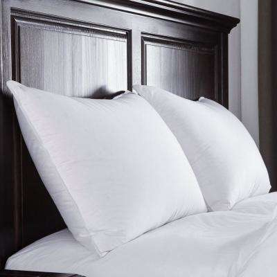 Puredown Luxury White Goose Down Pillow 400 Thread Count Egyptian Cotton Fabric Standard in White
