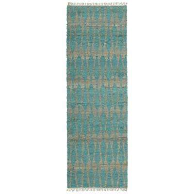 Kenwood Teal 2 ft. x 6 ft. Double Sided Runner Rug