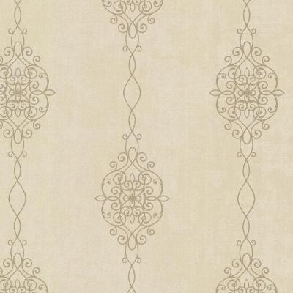 Alvina Brass Ironwork Stripe Geometric Wallpaper