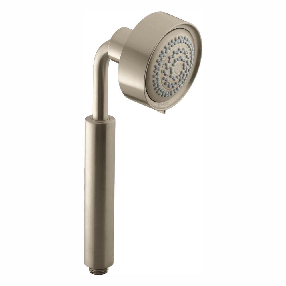 Purist Multifunction 3-Spray 3.6 in. Single Tub Deck Mount Handheld Rain Shower Head in Vibrant Brushed Nickel