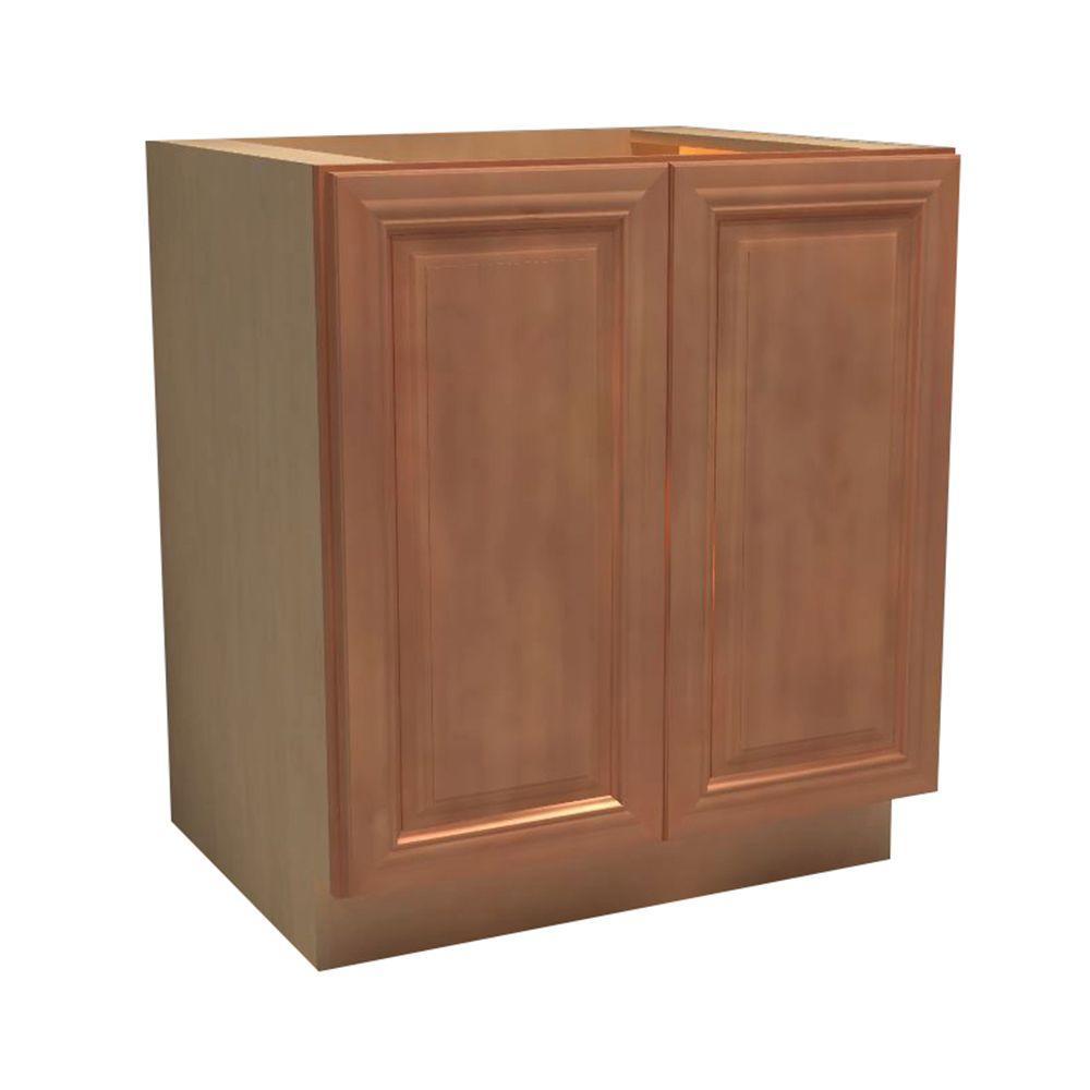 Dartmouth Assembled 36x34.5x21 in. Double Door Base Vanity Cabinet in Cinnamon