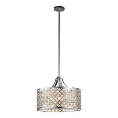Baker II 4-Light Chrome Pendant