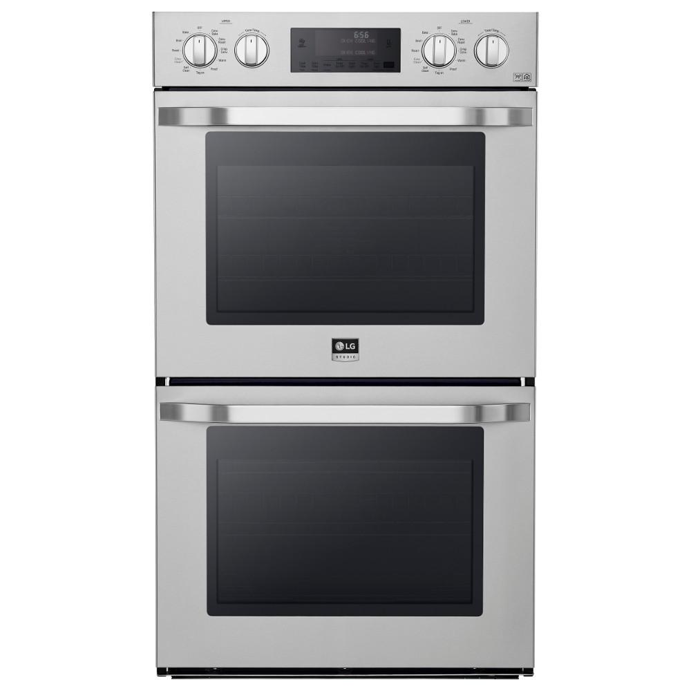 Double Wall Ovens ~ Lg studio in double electric wall oven self cleaning