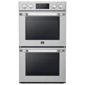 double electric wall oven with convection and easyclean in stainless - Electric Wall Oven