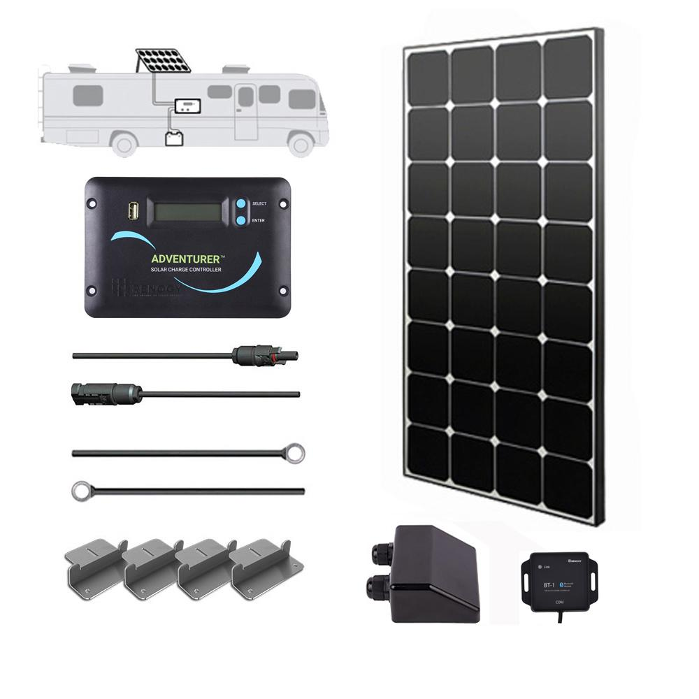 100-Watt 12-Volt Monocrystalline Solar RV Kit for Off-Grid Solar System