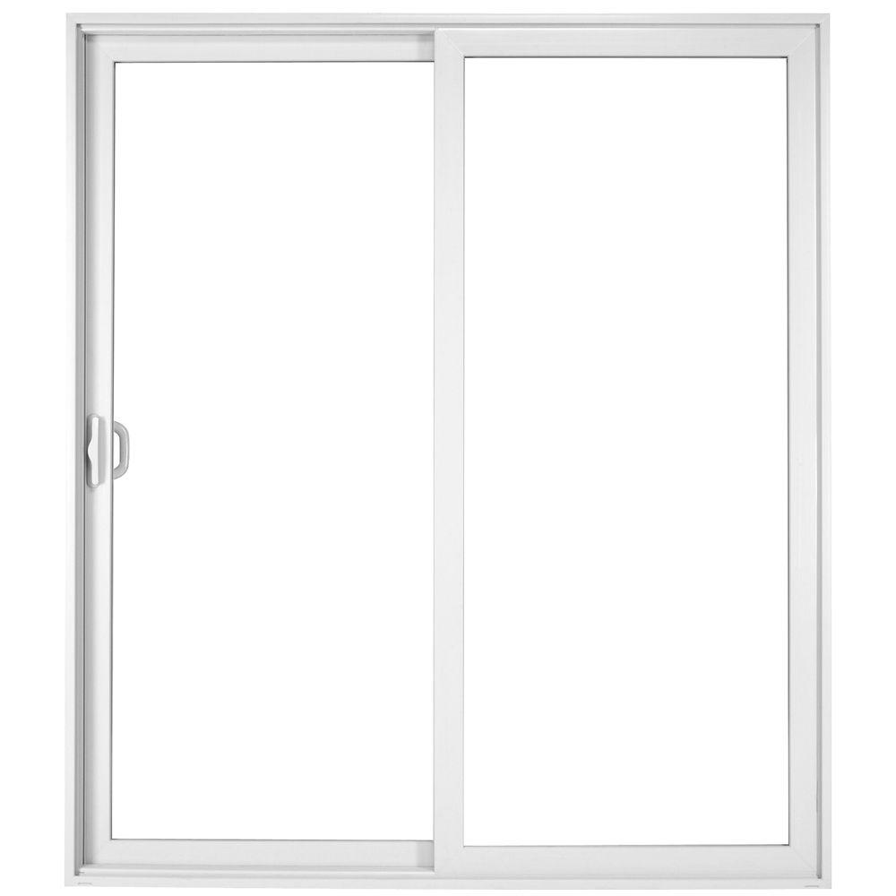 Milgard windows doors tuscany 60 in x 80 in white left for Milgard fiberglass windows reviews