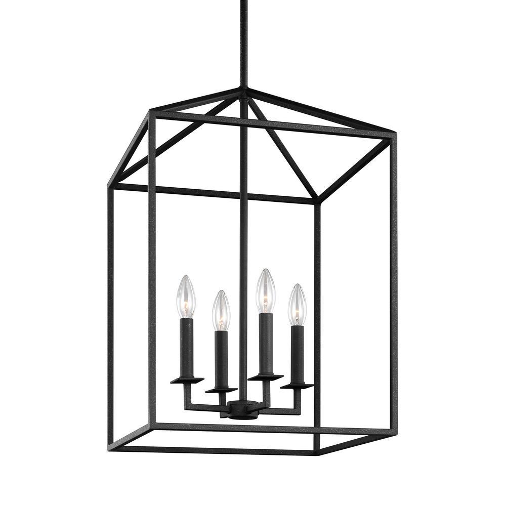 Perryton 4-Light Blacksmith Hall-Foyer Pendant