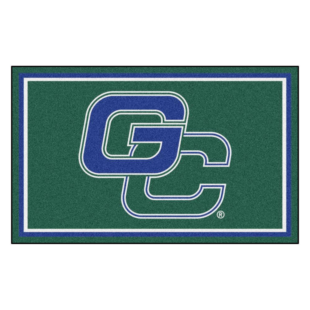 NCAA - Georgia College Green 6 ft. x 4 ft. Indoor Rectangle Area Rug