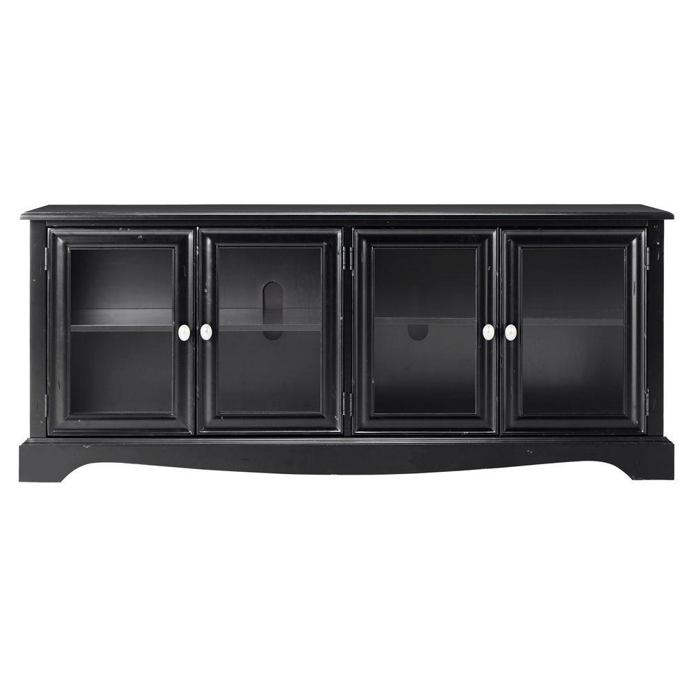Home Decorators Collection Sheffield 60 in. W Antique Black 4-Door TV Stand