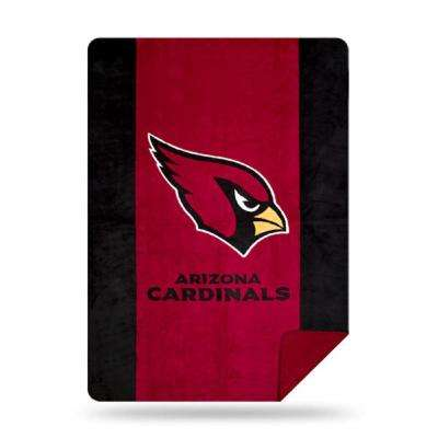 Cardinals Multi Color Acrylic Sliver Knit Throw