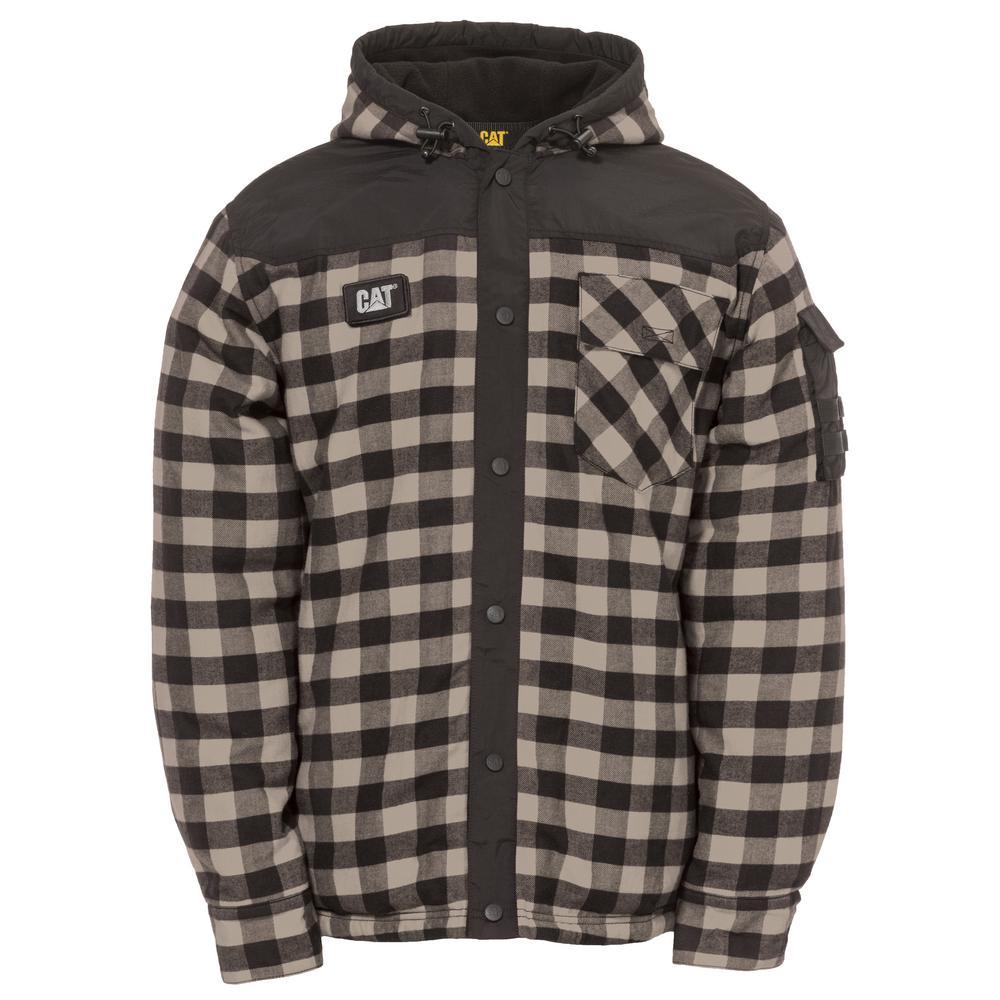 Sequoia Men's X-Large Grey Buffalo Plaid Cotton Shirt Jacket