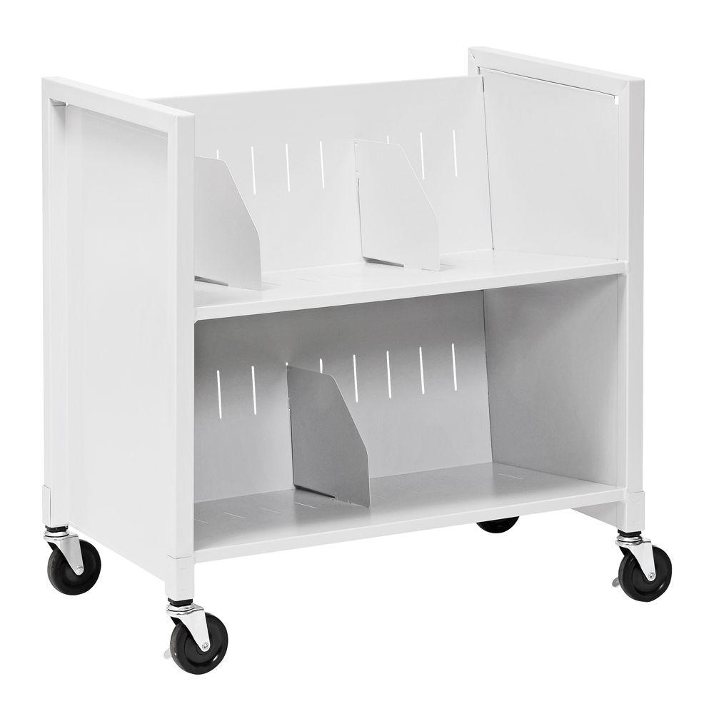 Buddy Products 25-7/8 in. W Low Profile Medical File Cart