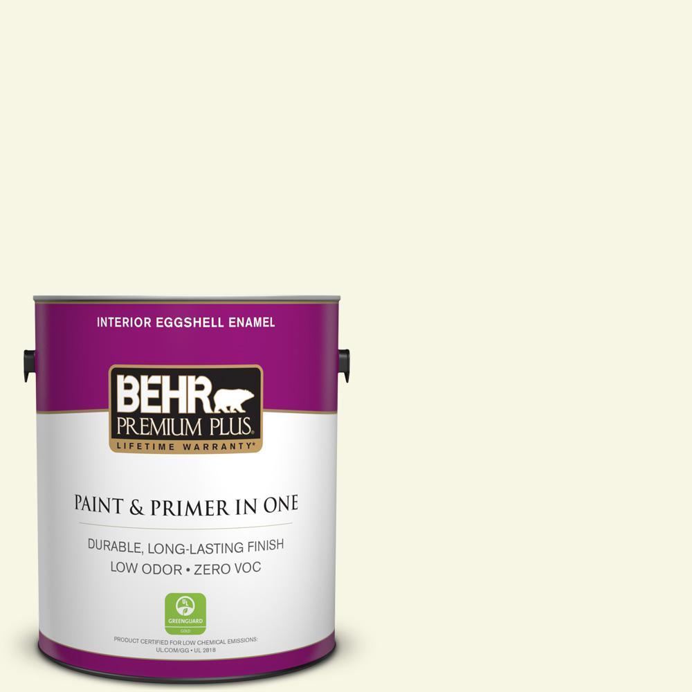 BEHR Premium Plus 1-gal. #W-B-300 Magnolia Blossom Zero VOC Eggshell Enamel Interior Paint