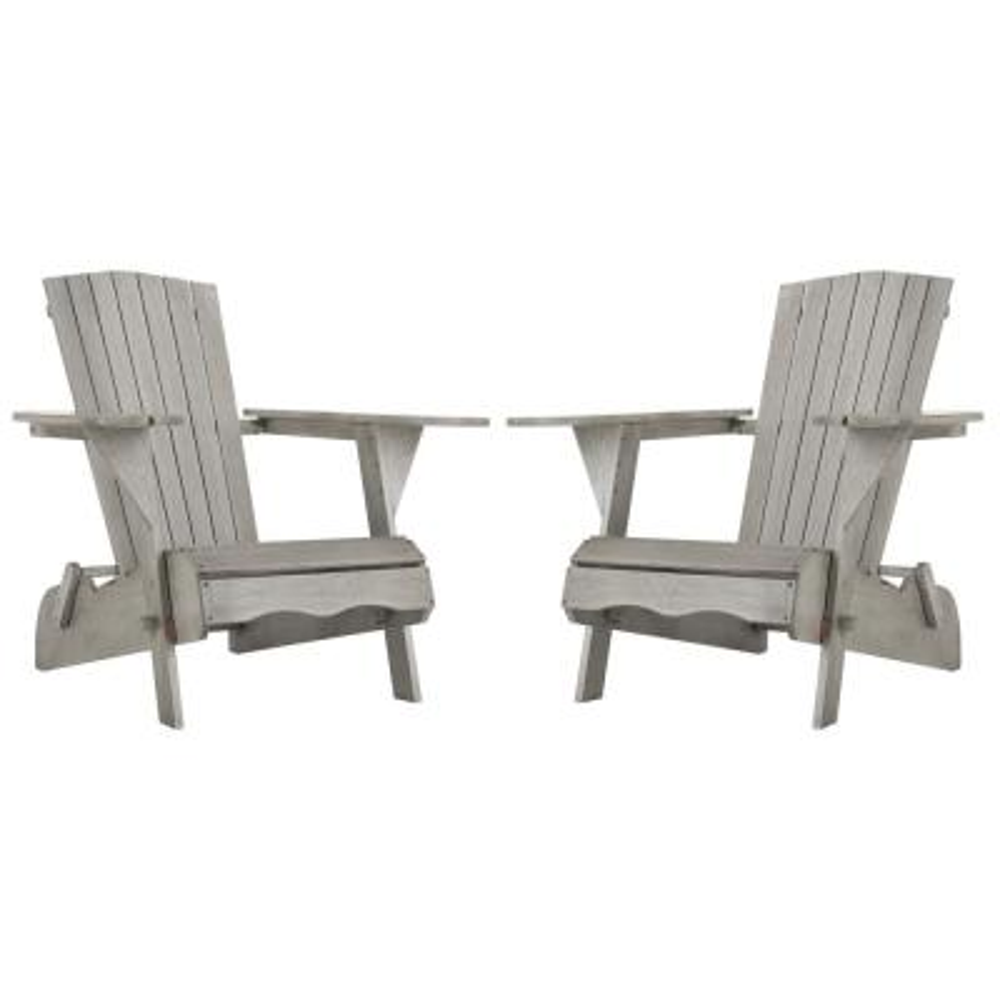 Breetel Grey Wash Wood Adirondack Chair (2-Set)