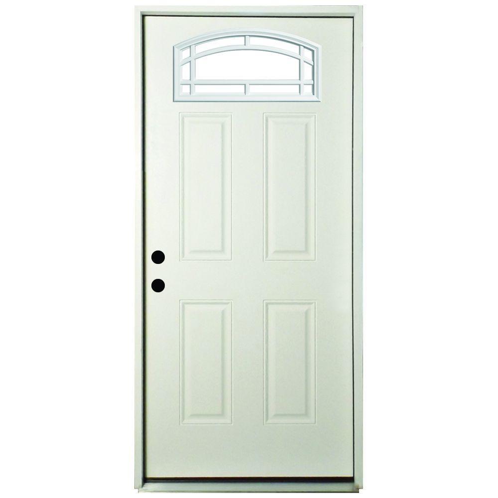 Best Exterior Doors For Home: Veranda 36 In. X 80 In. Premium Camber Top 11 Lite Primed
