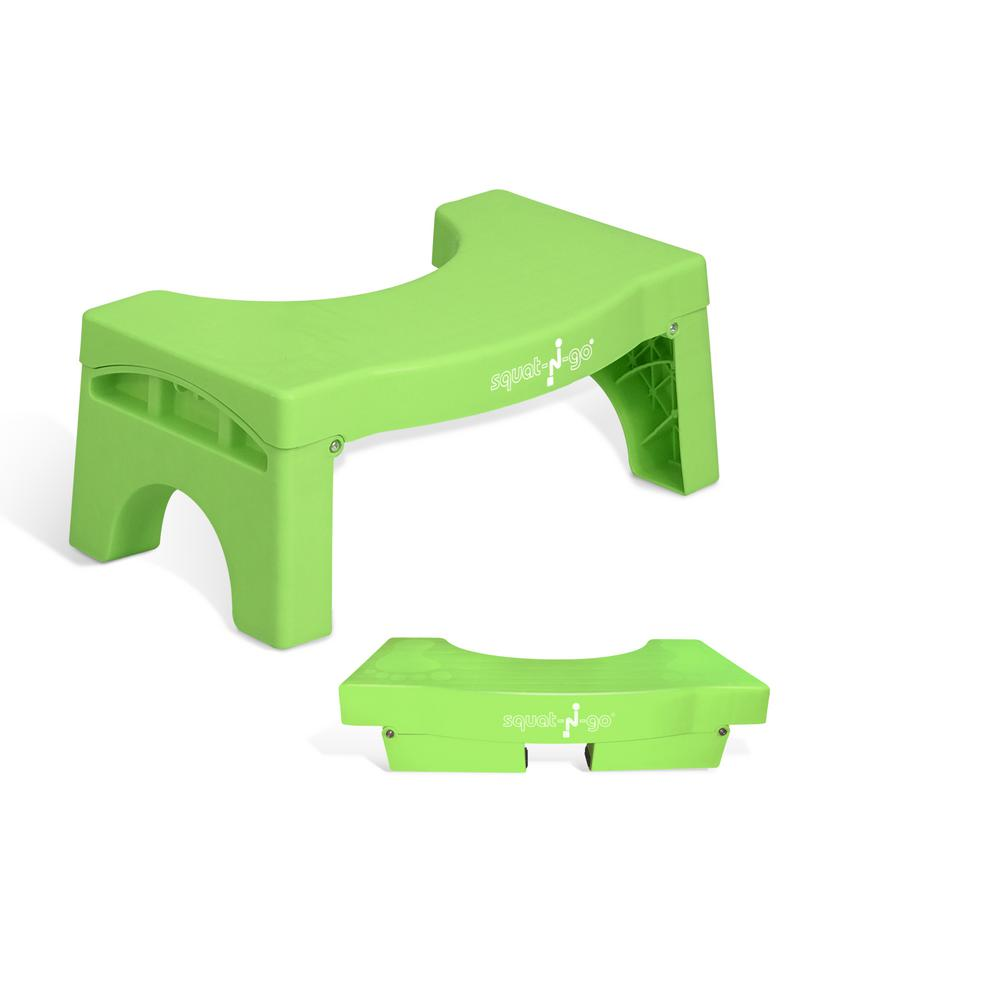 7 in. Foldable Squatting Toilet Stool in Mint Green
