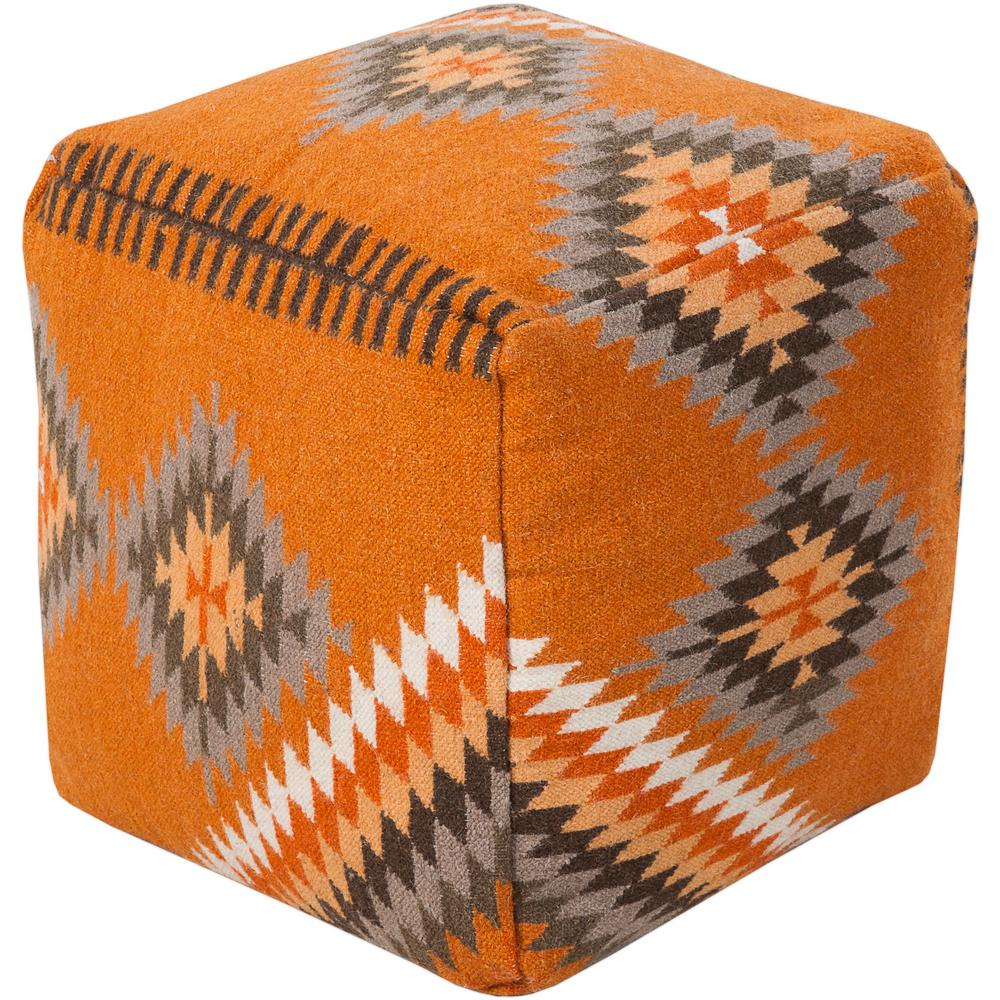 Artistic Weavers Iokaste Burnt Orange Accent Pouf Ottoman