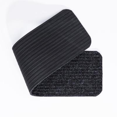Livesaver Collection Black 8 in. x 30 in. Scrape Ribbed Stair Tread Cover (Set of 7)