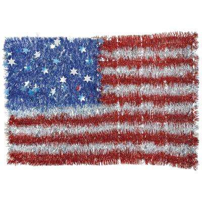 12.8125 in. x 19 in. American Flag Tinsel (2-Pack)
