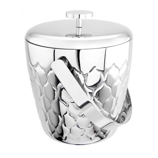 Old Dutch Avante 3 Qt. Embossed Stainless Steel Double Walled Ice Bucket
