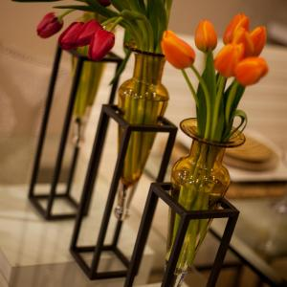 DANYA B 15 in. Glass Wall Mount Decorative Decorative Amphora Vase ...