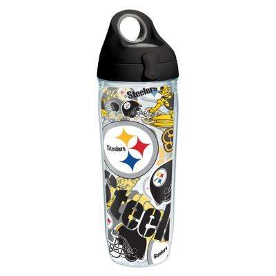 NFL Pittsburgh Steelers All Over 24 oz. Double Walled Insulated Water Bottle